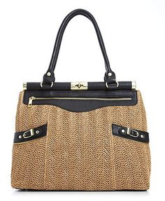 Olivia & Joy Handbag, Swanky Straw Satchel - All Handbags - Handbags & Accessories - Macys