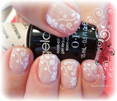 natural lace nail art stamp