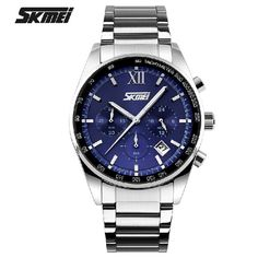 33.90$  Buy here - http://aliqof.shopchina.info/go.php?t=32709679382 - New Skmei Stainless Steel Wristwatch Business Men masculino mens top brand luxury Quartz Sports waterproof Fashion Boys watches 33.90$ #magazineonlinebeautiful