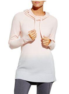 CALIA by Carrie Underwood Women's Effortless Dip Dye Hooded Sweater