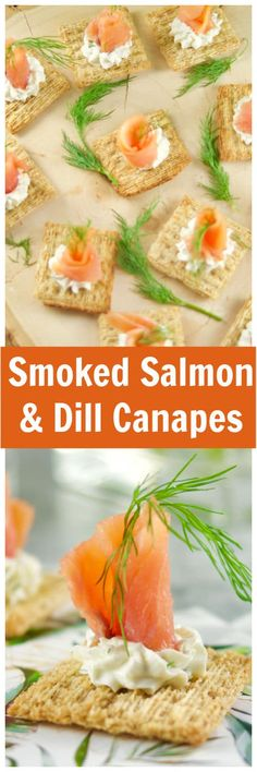 #AD These delicious Smoked Salmon and Dill Canapes require only 5 ingredients and can be made in 10 minutes or less! Perfect for entertaining those close to you @Triscuit via @livingsmoments via @Livingsmoments