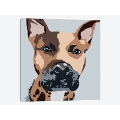 "East Urban Home Prince the Pit on Gray Painting Print on Wrapped Canvas Size: 37"" H x 37"" W x 0.75"" D"