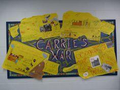 Learner created Carrie's War display - RIP Nina Bawden