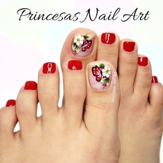 Merry Christmas Gif, Pedicure, Nail Designs, Lily, Nail Art, Beauty, Perfect Nails, Landscape, Frases