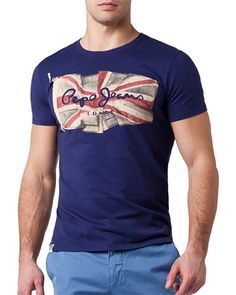 """T-shirt Pepe Jeans New Flag Logo """"Scout Blue"""" 