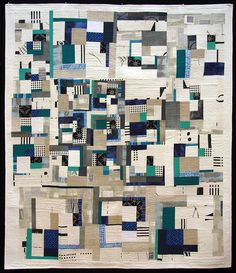 quilt by jae-young eom. Love the use of black and white stripe and check.