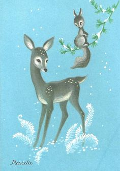 Christmas Greeting card vintage this is so beautiful  - I tend to romanticize the past but sometimes I know why