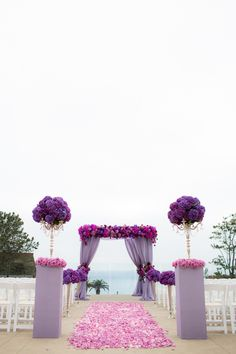 A Regal Purple California Wedding From The Youngrens photography - purple wedding ceremony idea Purple Hydrangea Wedding, Purple Wedding, Wedding Colors, Dream Wedding, Trendy Wedding, Purple Hydrangeas, Lavender Weddings, Purple Flowers, Spring Wedding