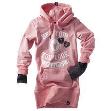 Anna hooded jurkje-Peach pink