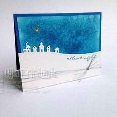 Jingle All the Way with Salt Staining Background #2 by JanTInk - Cards and Paper Crafts at Splitcoaststampers