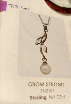 """Host special """"grow strong"""" with 7 silver Pearl Party, Strong, Pendant Necklace, Pearls, Silver, Jewelry, Jewlery, Jewerly, Beads"""