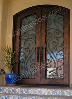 101 Wrought Iron Door, Entry Door, Ornamental Iron Door