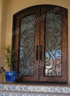 101 Wrought Iron Door, Entry Door, Ornamental Iron Door