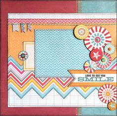 « Lamour de vous voir sourire pas » cette mise en page 12 x 12 est parfait pour une photo de vous fils ou fille, famille, jouer au parc, activités dété, vacances, etc.. Mise en page comprend : cercles de carton gris, pointes décoratives, bannières aggloméré, ficelle, papier chevron coupé main, titre découpé, carte de journal. washi tape, émail points, couture machine et encrage. Cette disposition a été créée par Tamara Jensen, un concepteur de scrapbook professionnel qui a travaillé pou...