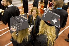 Decorated mortar boards