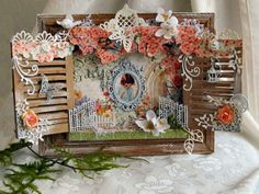 Stunning Secret Garden altered art from Kerstin Peters from our Ning gallery! Altered Books, Altered Art, Scrapbooking Layouts, Scrapbook Cards, Crafts To Make, Arts And Crafts, Shadow Box Art, Graphic 45, Vintage Shabby Chic