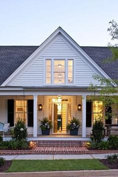 Farmhouse Revival - | Southern Living House Plans...love the porch by Hughesee