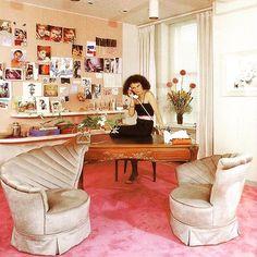 The original #GirlBoss: #DvF office circa 1974    #respect #entrepreneur #officegoals |  @goodmorningoodnightnyc
