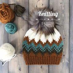 Knit Headband Pattern, Beanie Pattern, Knitted Headband, Crochet Beanie, Knitted Hats, Knit Crochet, Crochet Hats, Fair Isle Knitting, Loom Knitting