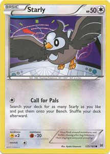 Pokemon - Starly (125/162) - XY BREAKthrough - A single individual card from the Pokemon trading and collectible card game (TCG/CCG). - This is of Common rarity. - From the XY BREAKthrough set.