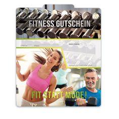 "Premium Faltgutschein ""Multicolor"" FI203 für Fitnesscenter, Sport, Bewegung, Fitnessstudios. Fitbit, Sport, Fitness Studio, Things To Do, Cards, Gifts, Deporte, Sports, Exercise"