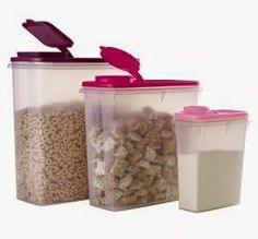 HI-HO HI-HO WITH TUPPERWARE WE GO: Cereal Storer Trio Now Only $29 at www.my.tupperware.com/lindacwilson