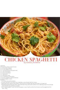 Apple Pie Recipes, Pasta Recipes, Chicken Recipes, Cooking Recipes, Pasta Meals, Spaghetti Recipes, Dinner Recipes, Lime Chicken, Creamy Chicken