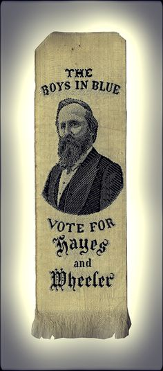 Civil War veteran Rutherford B. Hayes courted the support of fellow soldiers during the presidential campaign on 1876.