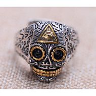 Ring Silver Plated Skull / Skeleton Fashion Silver Jewelry Daily Casual 1pc – NOK kr. 376