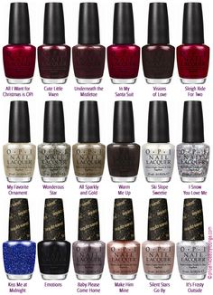 OPI Holiday 2013 Mariah Carey Collection