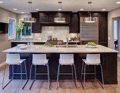Naperville IL Kitchen - contemporary - kitchen - chicago - Drury Design .... sample of dark cabinets