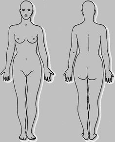 Body Diagram Form Female Texts 5 Diagrams Endix V Front And Back