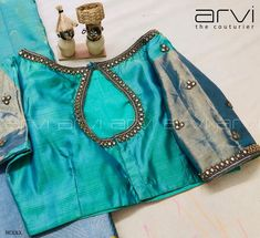 Embroidery blouse designs indian fashion ideas for 2019 Simple Blouse Designs, Silk Saree Blouse Designs, Stylish Blouse Design, Bridal Blouse Designs, Blouse Neck Designs, Blouse Patterns, Work Blouse, Gold Wedding, Antique Gold