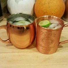 Moscow Mule Cocktail - Used agave syrup instead of simple syrup. Turned out delicious!