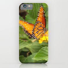 Orange Butterfly iPhone & iPod Case