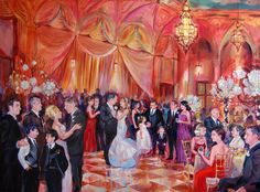 Something I have never seen: Hire an artist to paint your wedding!