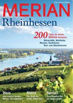 Merian Heft, Rheinhessen, Fototapete, Weinberge, Rhein, Digitaldruck - merian-bildservice.de