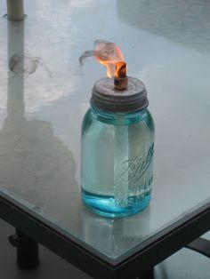 DIY - Mason Jar Oil Burner.