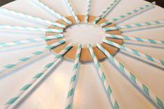 DIY Carolina Blue straw wreath tutorial