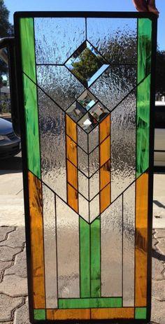 Frank L. Wright stijl/Mission gekleurd en door ArtGlassWindows