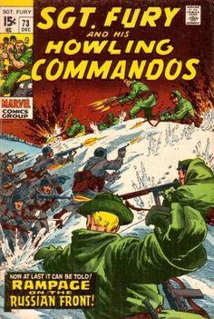 Sgt Fury and his Howling Commandos Vol 1 73 War Comics, Marvel Comics, Caricature, Comic Book Covers, Comic Books, Jim Steranko, Joe Kubert, Western Comics, Nick Fury