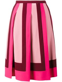 Shop Valentino pleated crepe skirt.