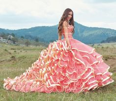 Quinceanera Dresses Coral, Quinceanera Party, Sweet 16 Dresses, 15 Dresses, Tulle Ball Gown, Ball Gowns, Quinceanera Photography, Bridal Gowns, Wedding Dresses