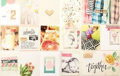 Inspirationsgalerie Project Life Werkstatt - Scrapbook Werkstatt - Doppelseite mit einem PL-Papierbogen erstellen von Steffi Ried