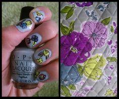 Nail art inspired by Vera Bradley Watercolor! Cool!