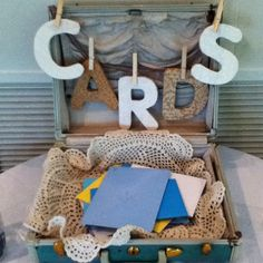 "Another pinner: ""Saw this adorable card set up at a retirement party I worked"""