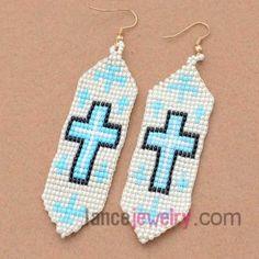 Fashion mix color plastic beading earrings