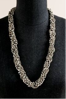 J. Crew Crystal Helix Necklace
