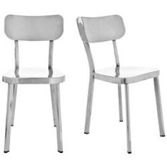 @Overstock - Add a chic touch to any dining room with these modern stainless steel dining room chairs. This set of two chairs are made from stainless steel that is not only easy on the eyes but is all-around functional.http://www.overstock.com/Home-Garden/Orion-Stainless-Steel-Side-Chairs-Set-of-2/5989970/product.html?CID=214117 $289.79