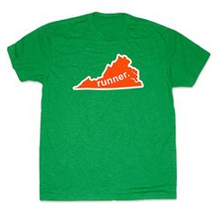 Mens Lifestyle Runners Tee Virginia Runner (Orange/White) - Show off your pride for Virginia_2 with this great Virginia Runner_2 State Tee.